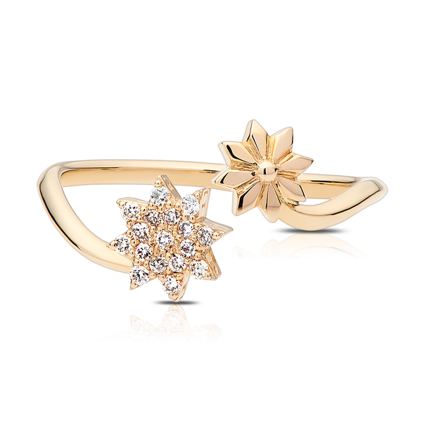 Diamond Starlight Ring in 14K Yellow Gold