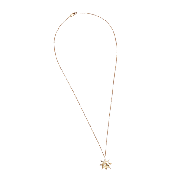 Diamond Starlight Pendant in 14K Yellow Gold