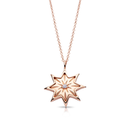 Diamond Starlight Pendant in 14K Rose Gold