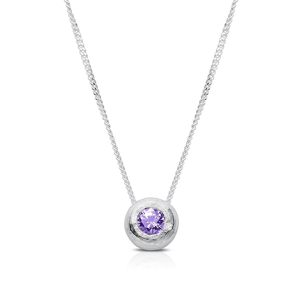 Amethyst pendant necklace in sterling silver bixlers amethyst pendant necklace in sterling silver aloadofball Images