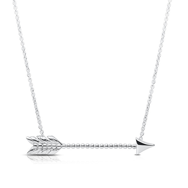 Lovestruck Arrow Pendant Necklace in Sterling Silver