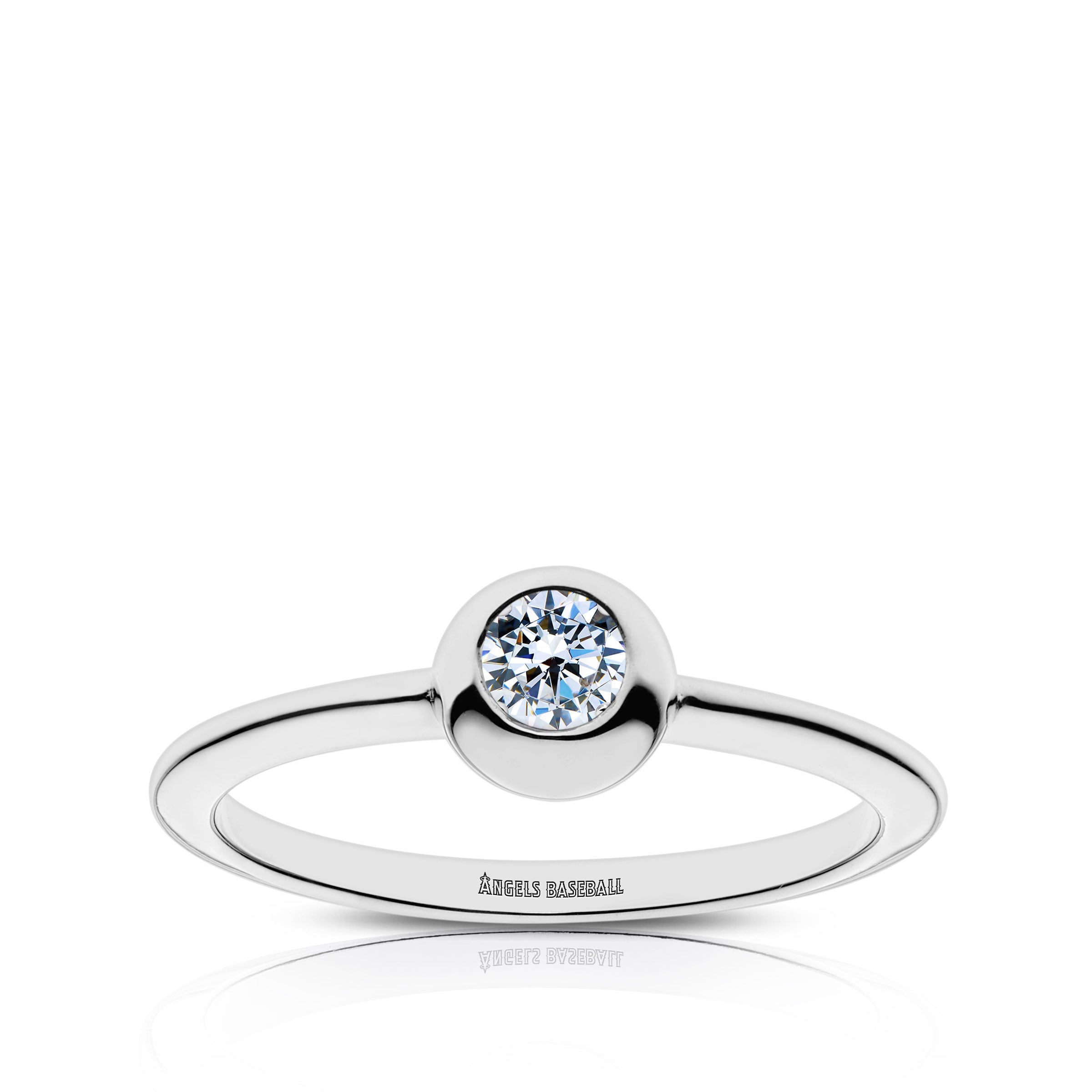 Los Angeles Engraved Diamond Ring Size 5