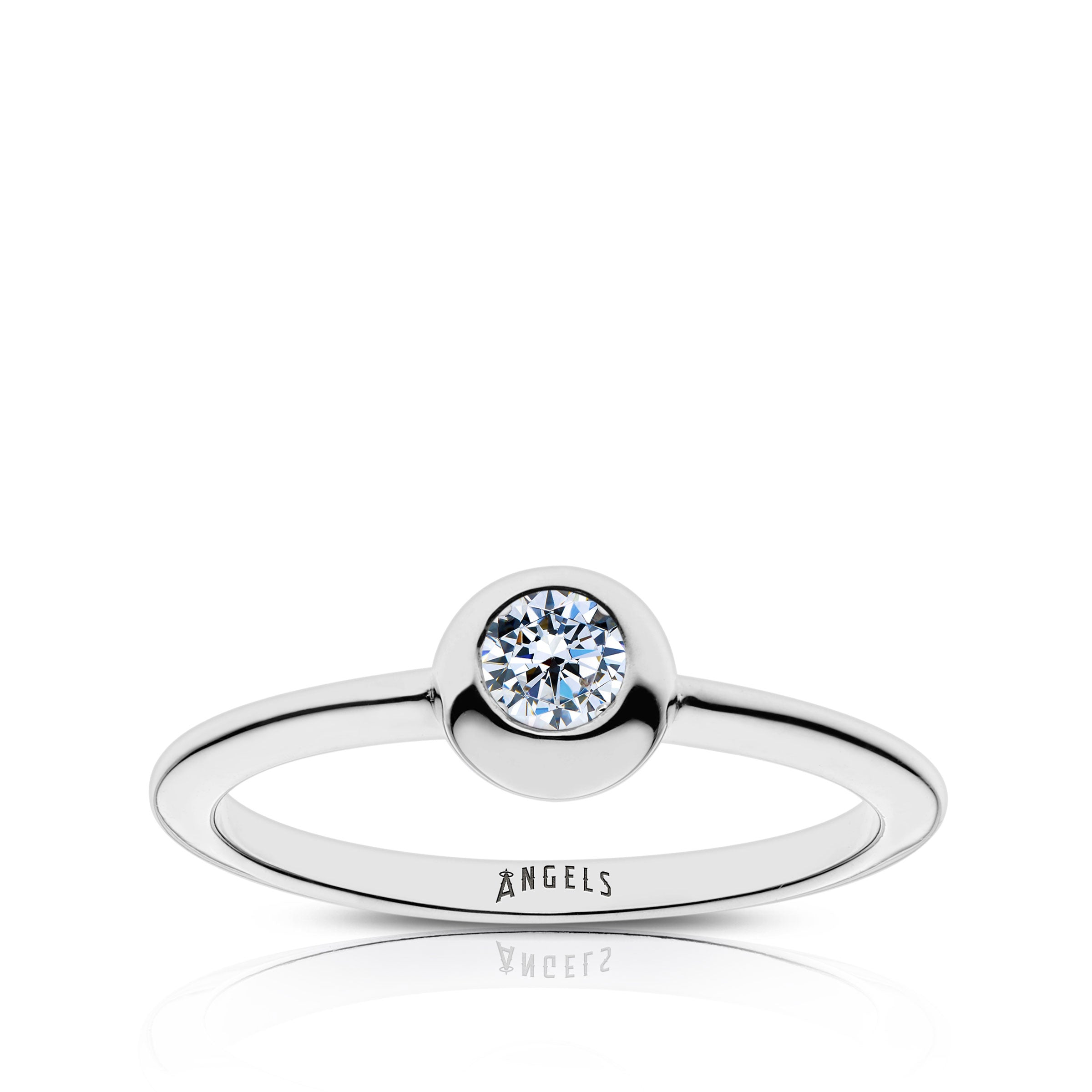 Angels Engraved Diamond Ring Size 5