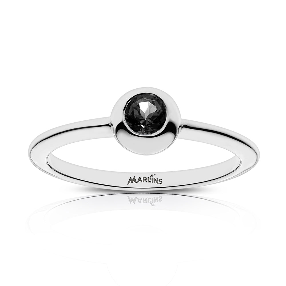 Marlins Engraved Black Onyx Ring Size 5