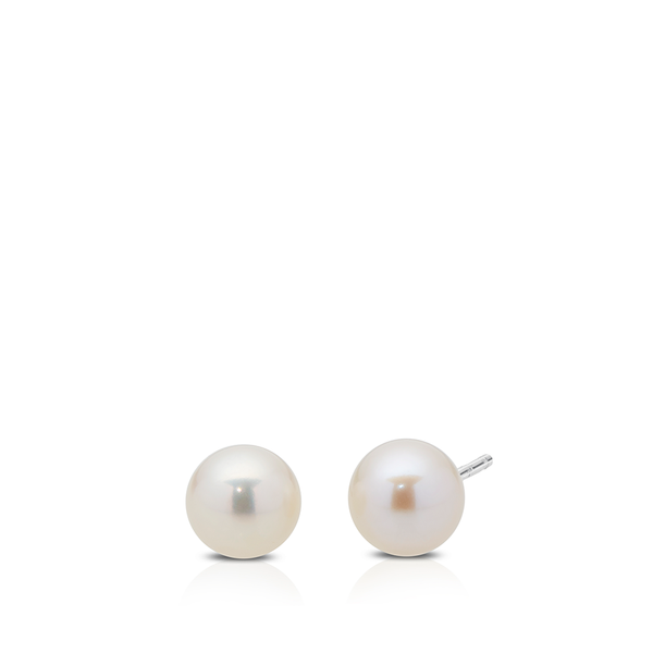 Pearl Stud Earrings in Sterling Silver