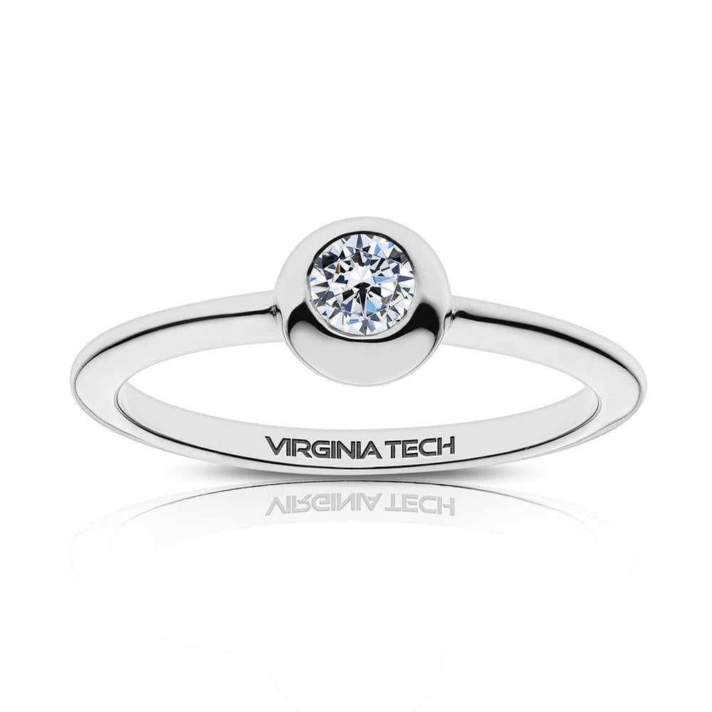 Virginia Tech Engraved Diamond Ring Size 5