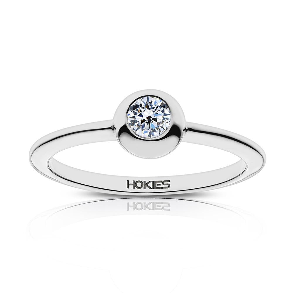 Hokies Engraved Diamond Ring Size 5