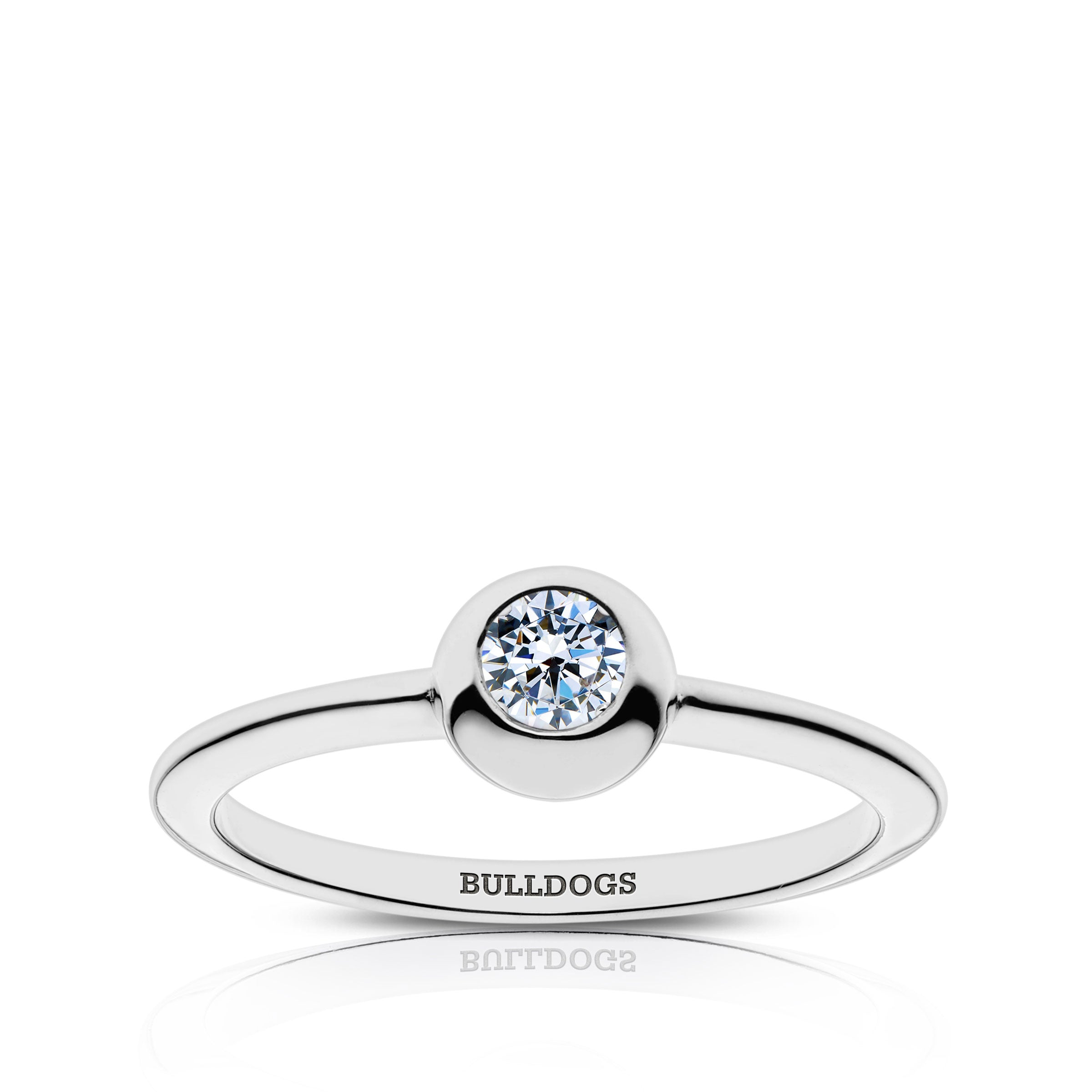 Bulldogs Engraved Diamond Ring Size 5