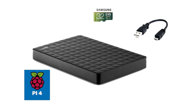 New! Raspberry Pi 4 (2GB) Retropie Console, Up to 20,000 Games, Case With Fan, MIni HDMI Adapter, Power Supply, Controllers
