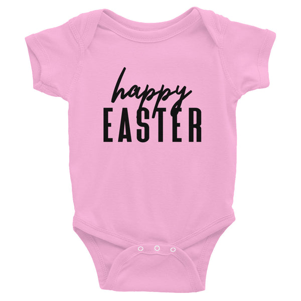"Easter ""Happy Easter"" Infant Baby One Piece"