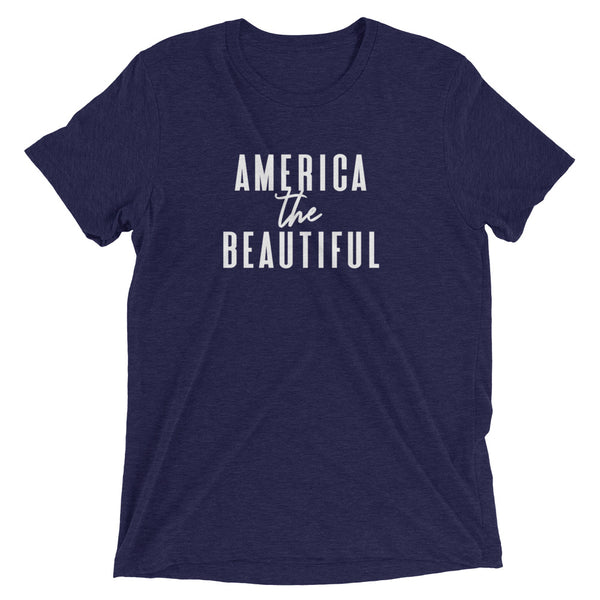 "4th of July ""America the Beautiful"" Women's Short Sleeve T-Shirt"