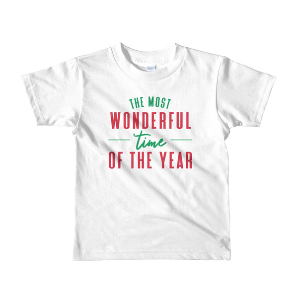 "Christmas ""The Most Wonderful Time of the Year"" Short Sleeve Kid's T-Shirt"