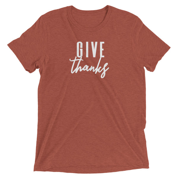 "Thanksgiving ""Give Thanks"" Women's Short Sleeve T-Shirt"