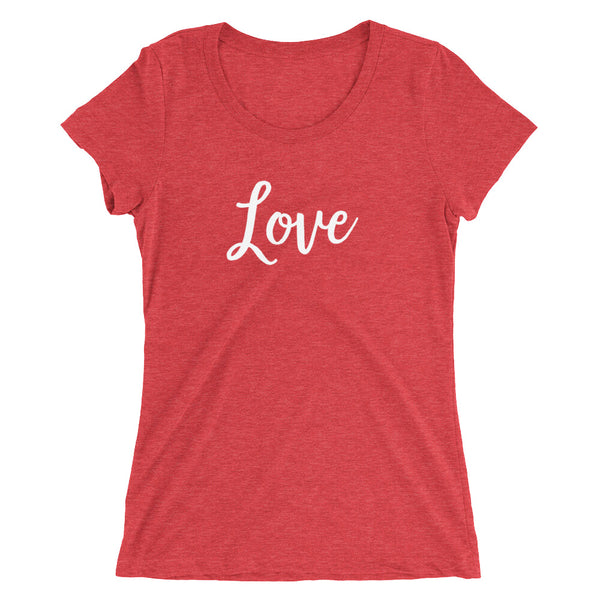 "Valentine's ""Love"" ladies' Short Sleeve T-Shirt"