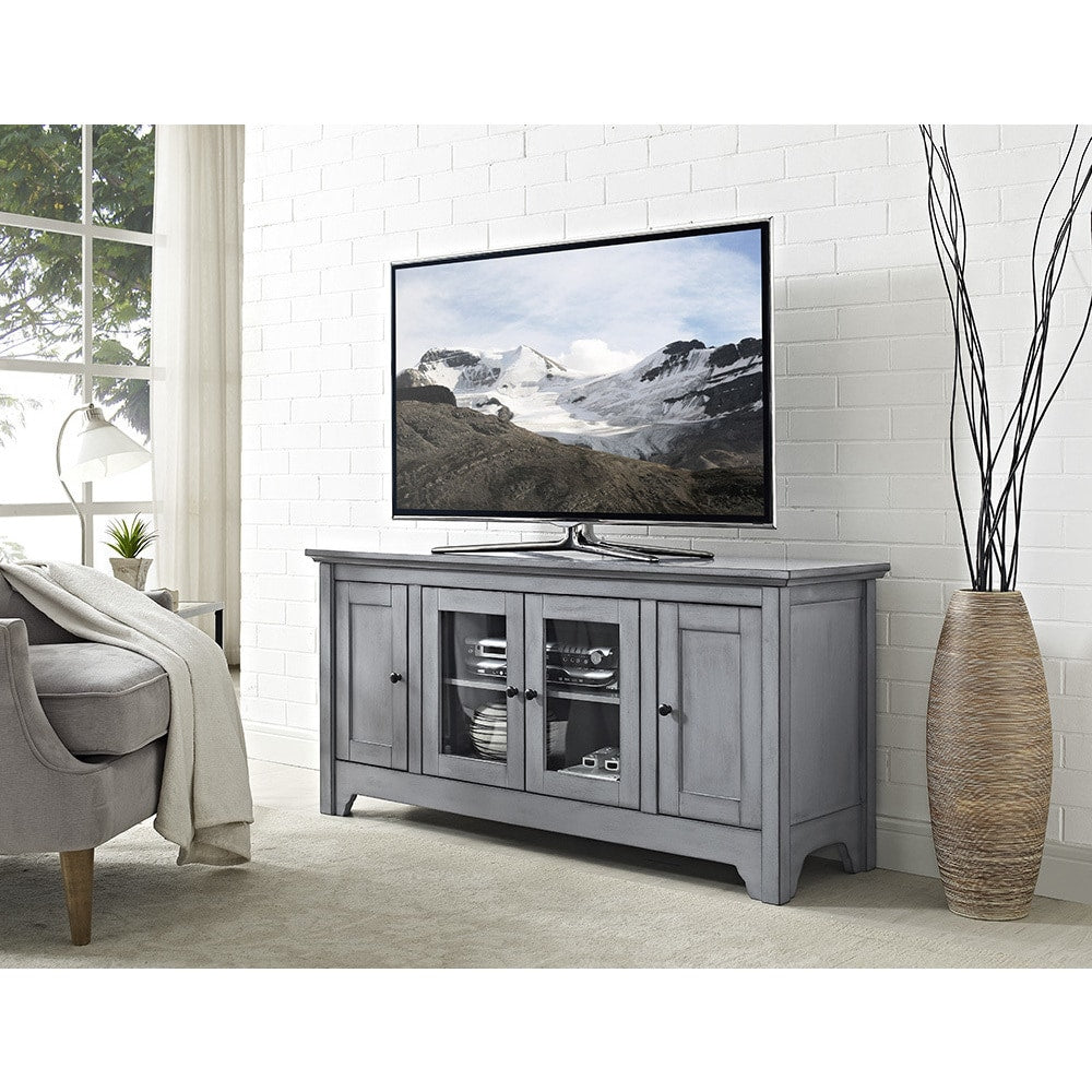52-inch Wood TV Media Stand Storage Console