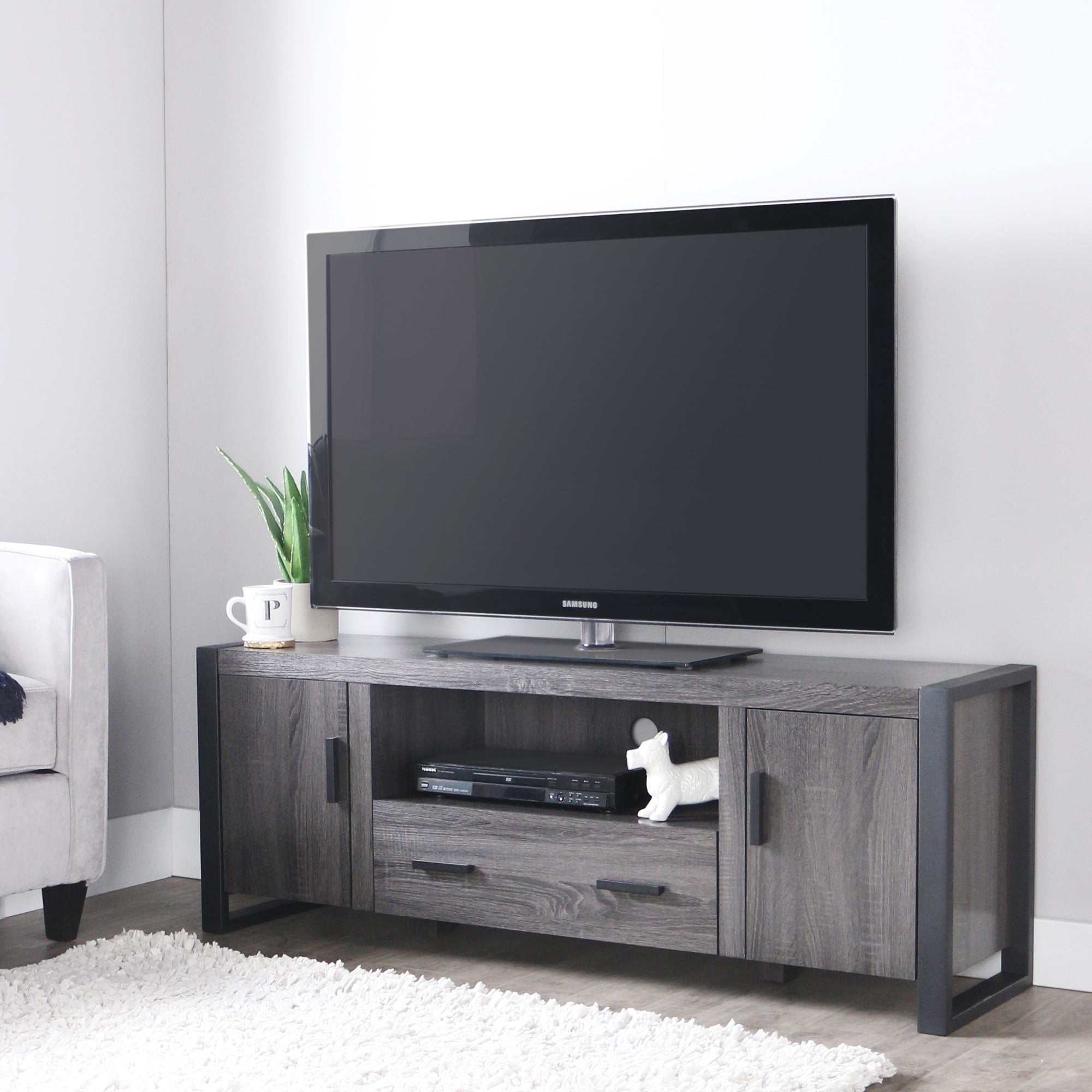 Charcoal Grey 60-inch TV Stand