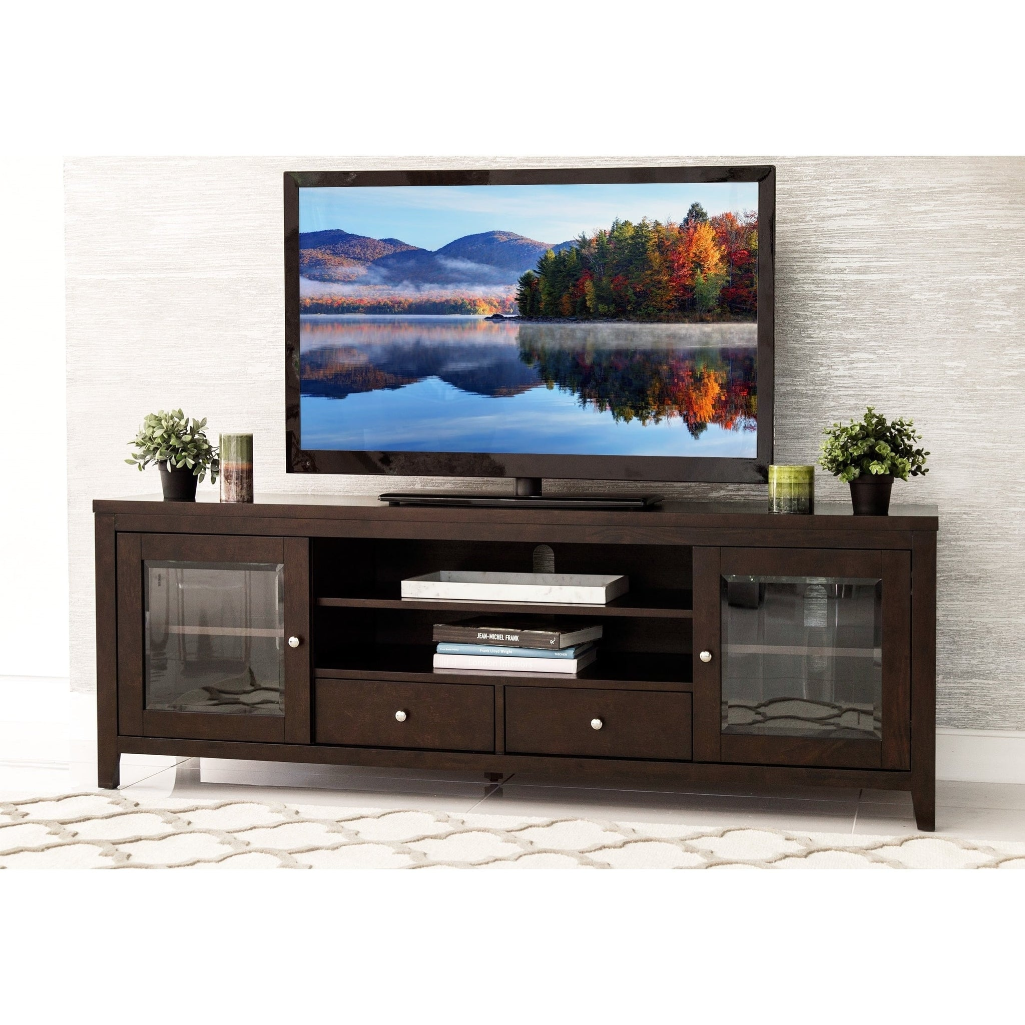 Solid Wood 72-inch TV Console