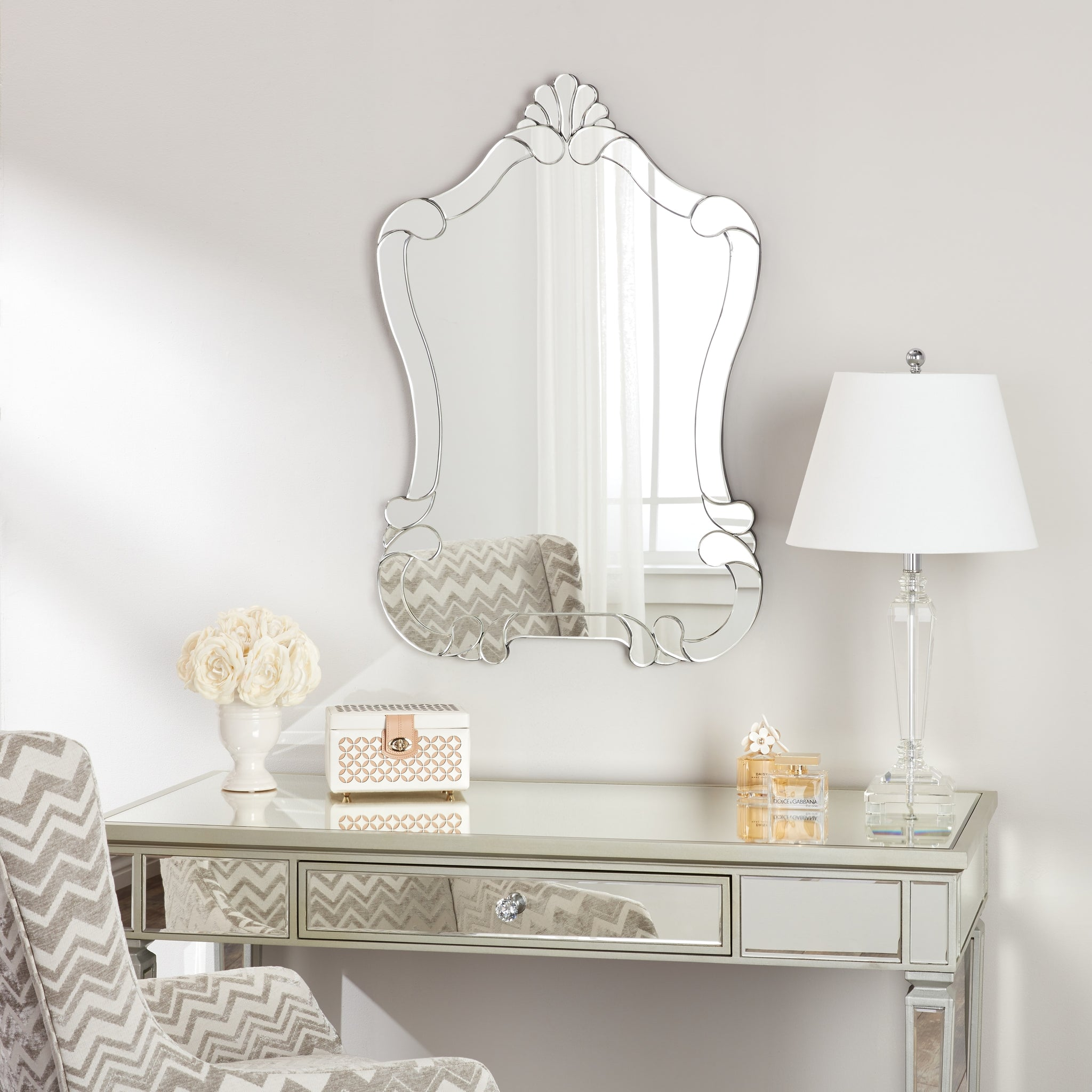 Scrollwork Wall Mirror