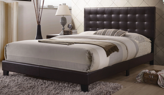 Espresso PU Queen Bed