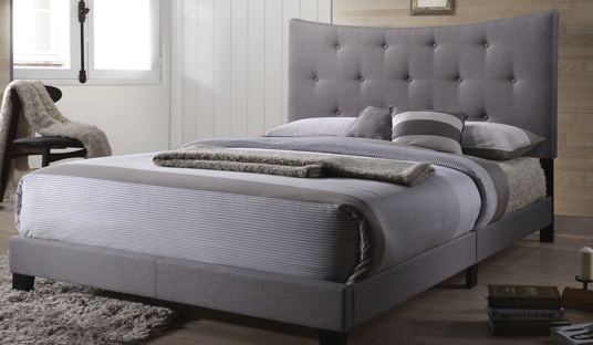 Grey Platform Queen Bed