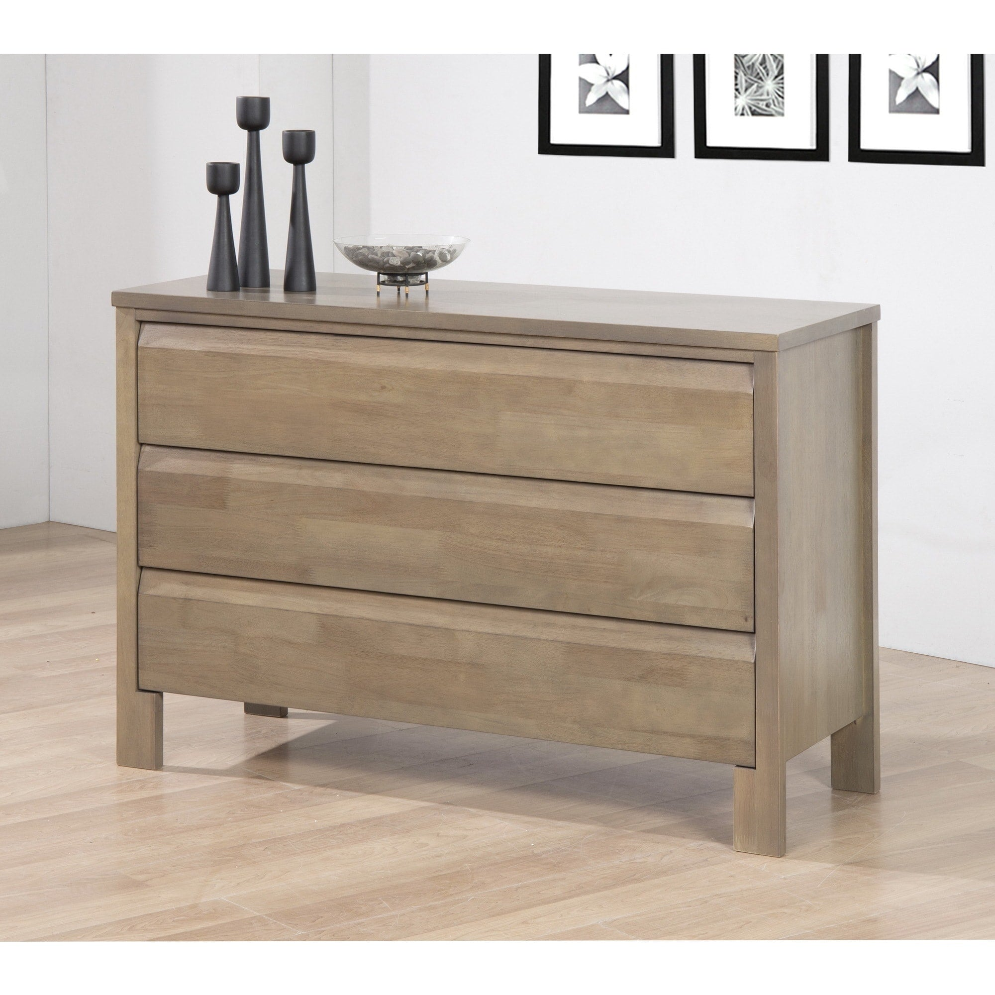 Gray Three-drawer Dresser