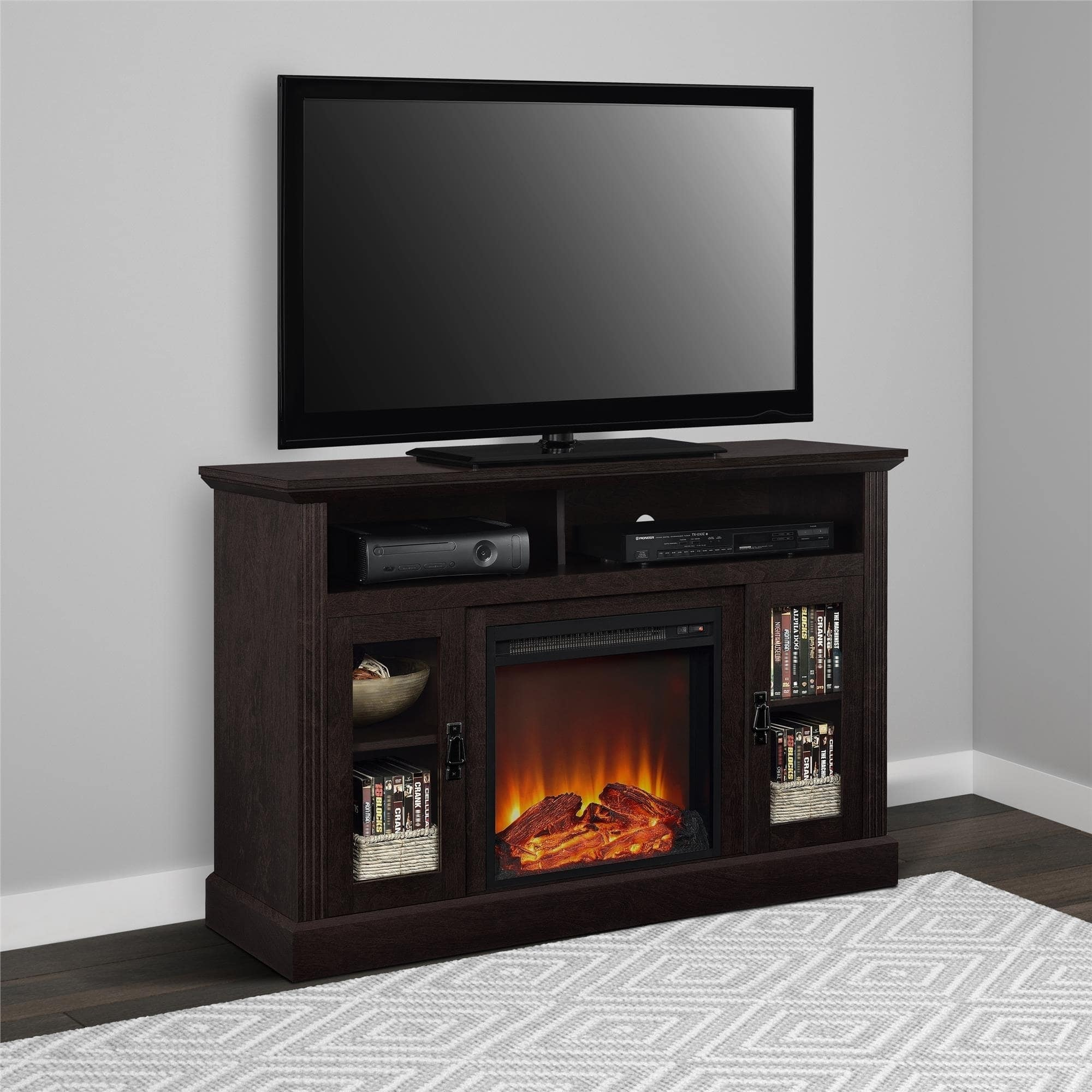 Electric Fireplace 50-inch TV Console