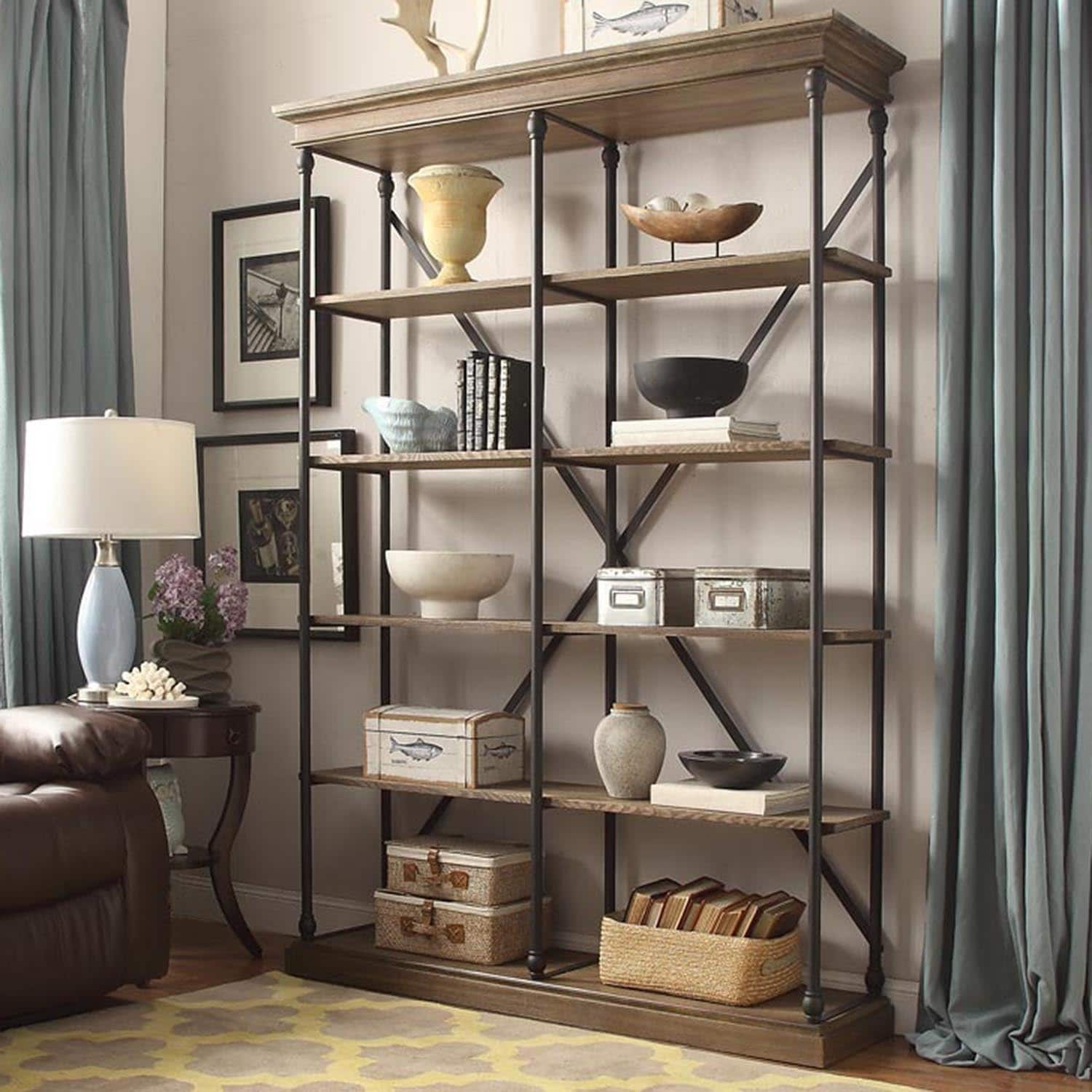 Cornice Double Shelving Bookcase