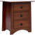 Chestnut Three-drawer Nightstand