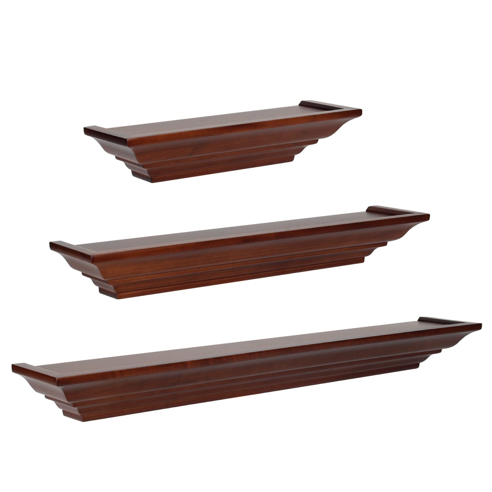 Wood Floating Shelves 3-Piece Set