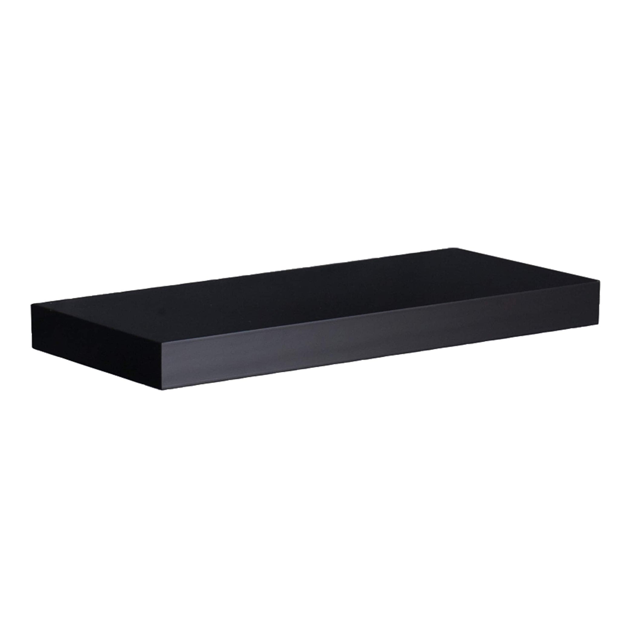 24-inch Black Laminated Floating Shelf