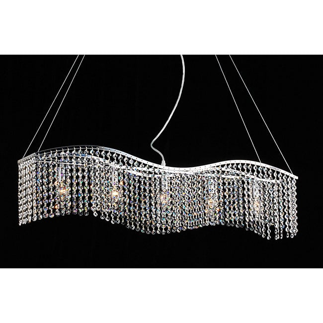 Crystal Five-Light Chandelier