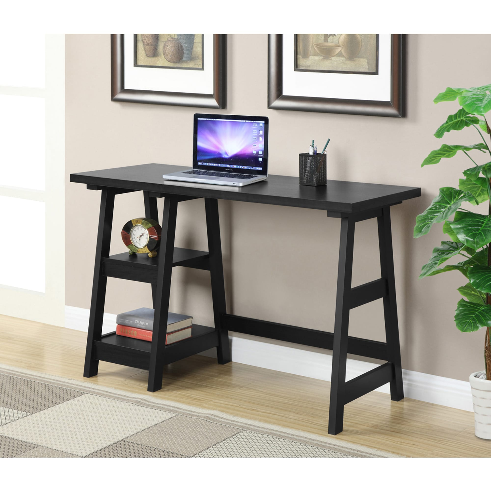 Trestle Wood Desk