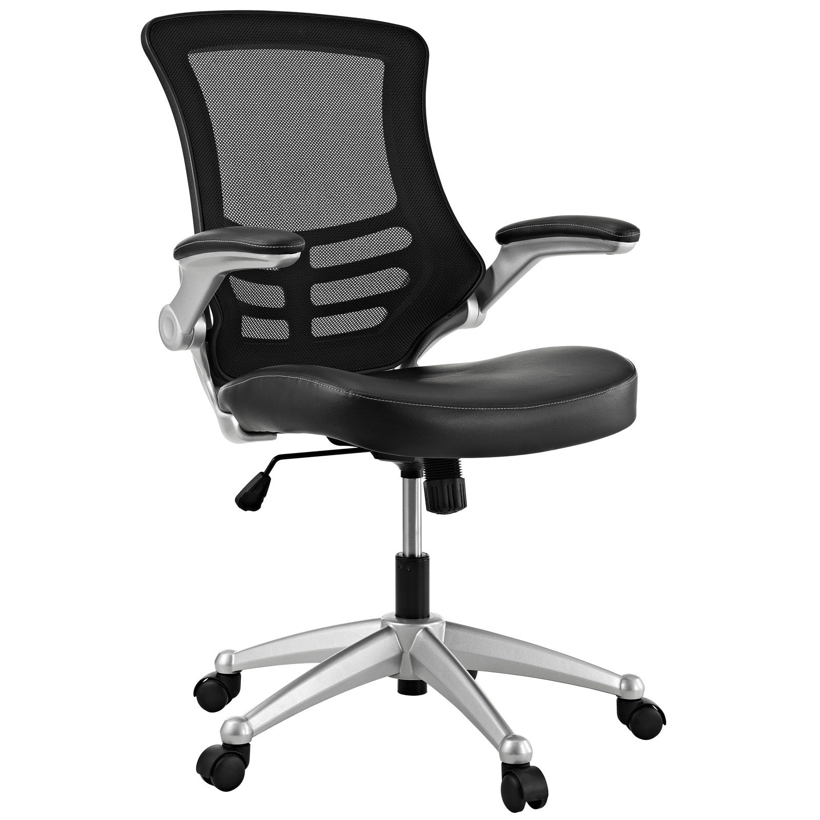 Mesh Back and Leatherette Seat Office Chair