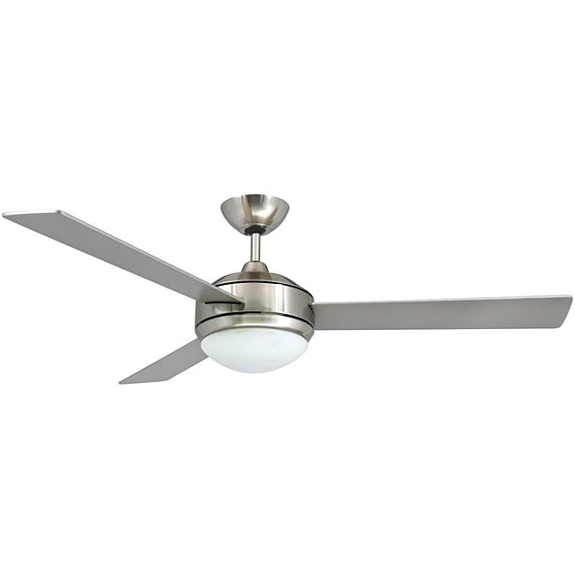 52-Inch Brushed Nickel Two-Light Ceiling Fan