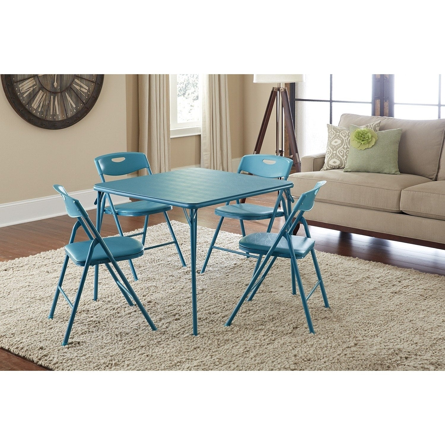 Five-Piece Folding Table and Chairs Set
