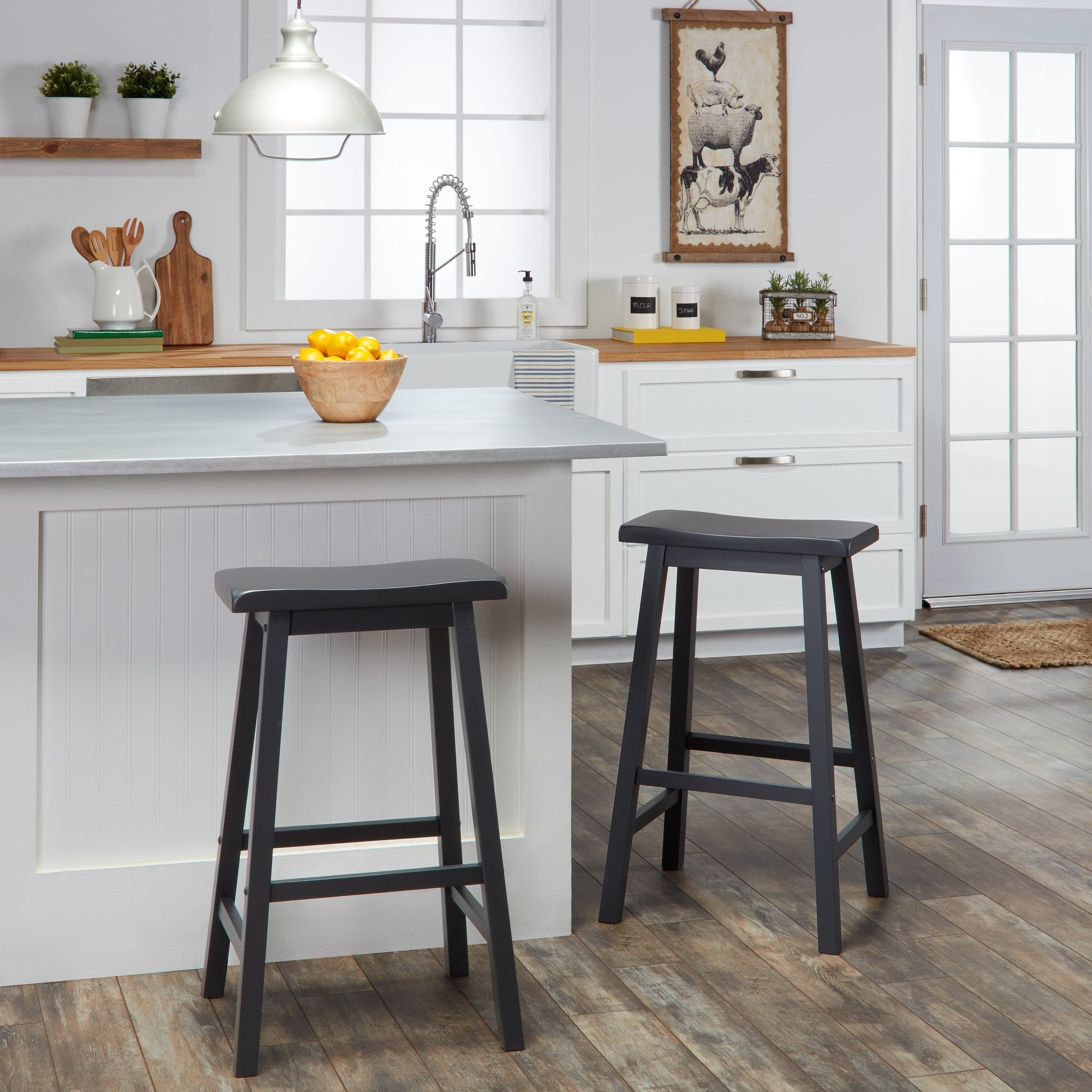 29-inch Counter Height Backless Stools (Set of 2)