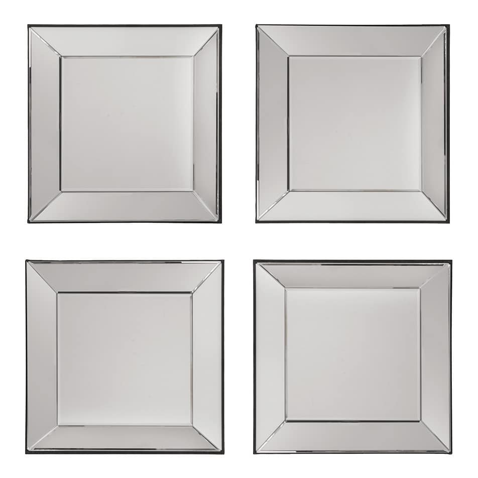 Decorative Square Wall Mirrors (Set of 4)