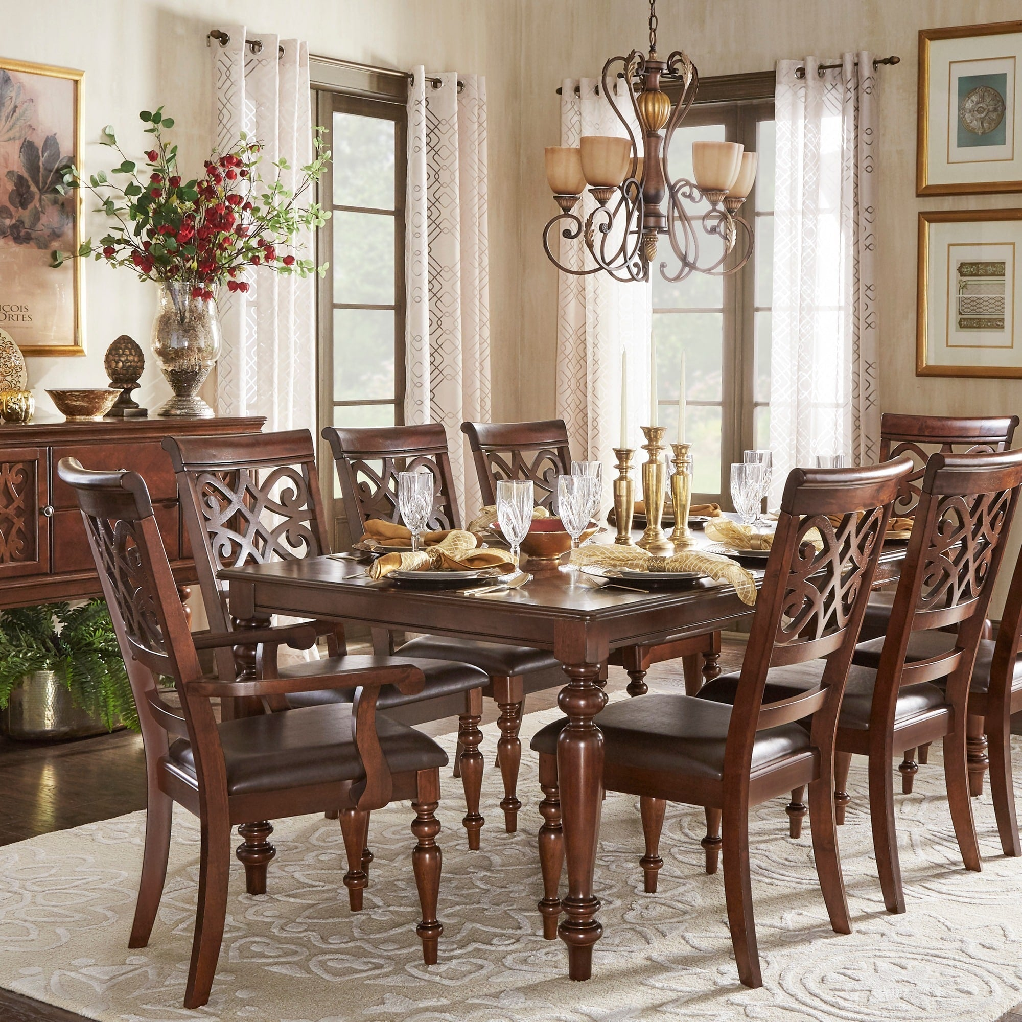 Cherry Extending Dining Set