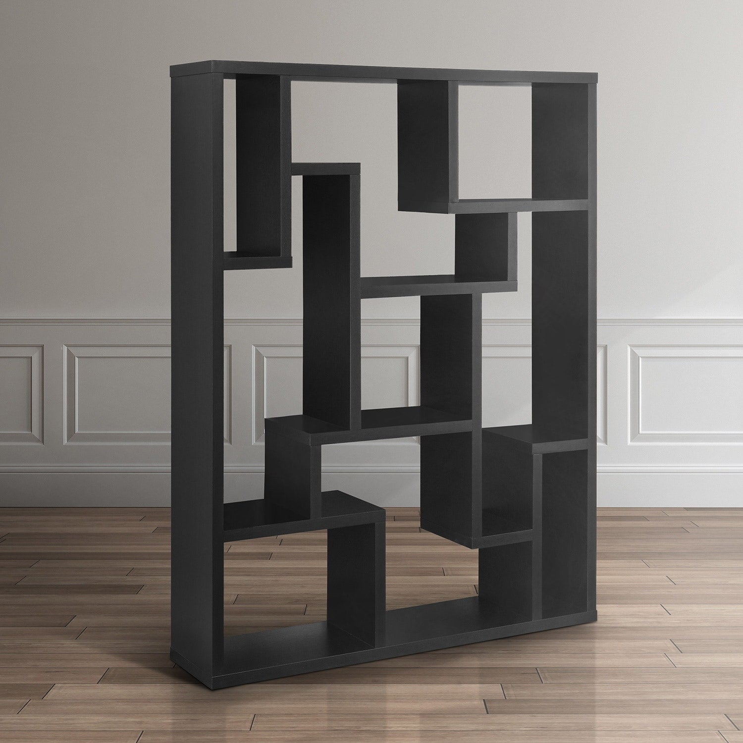 Black Bookcase Room Divider