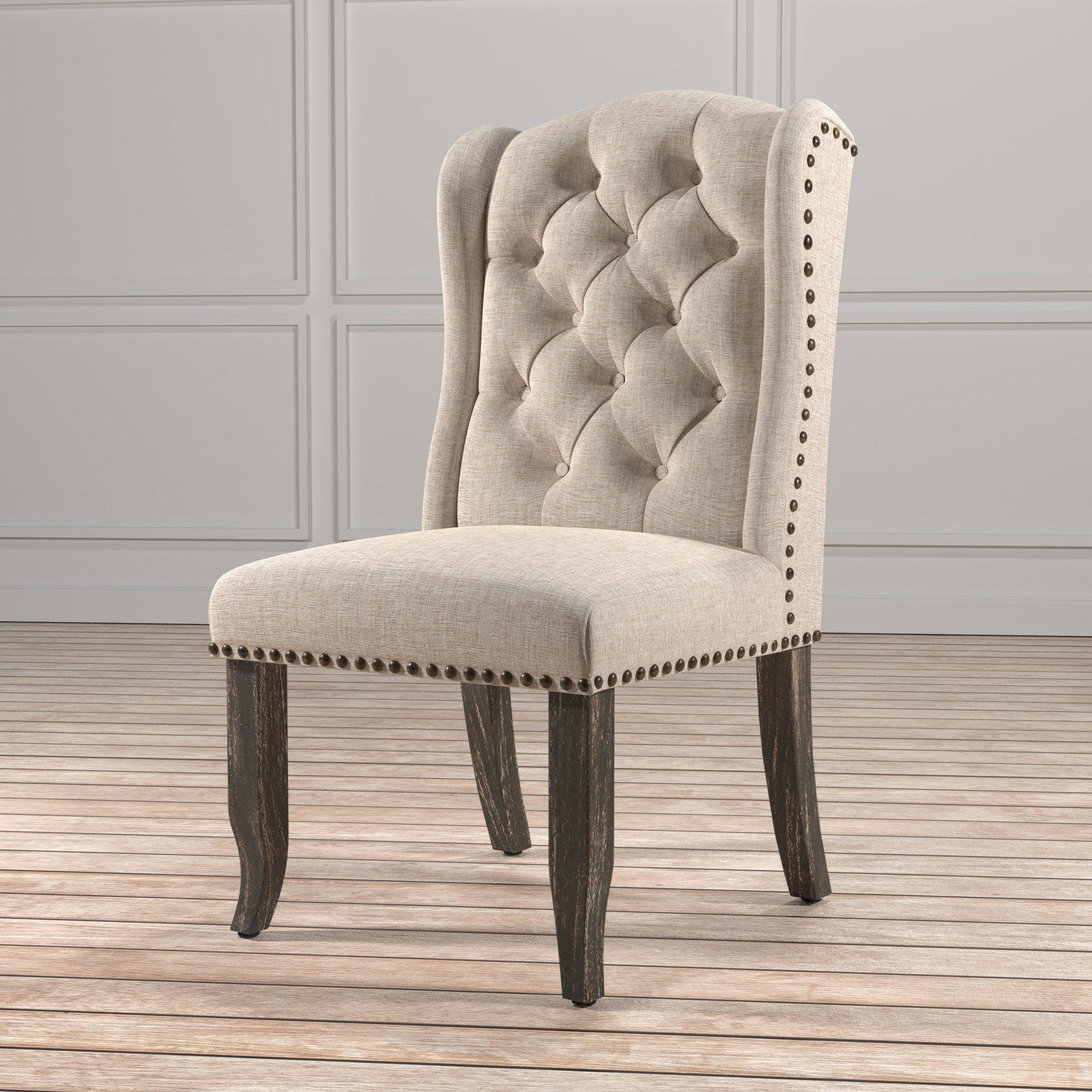 Tufted Wingback Dining Chair