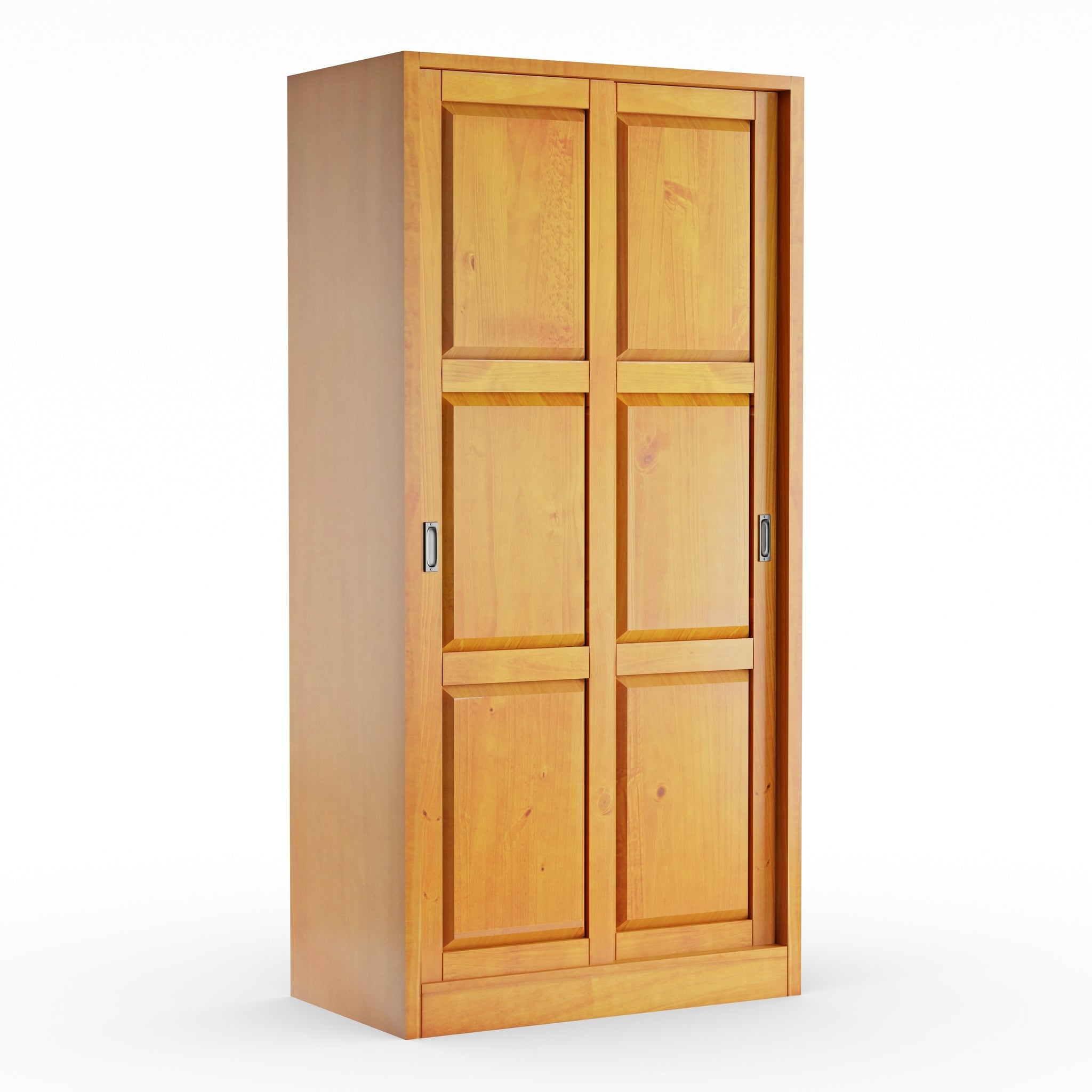 Solid Wood Wardrobe With Two Sliding Doors Handy