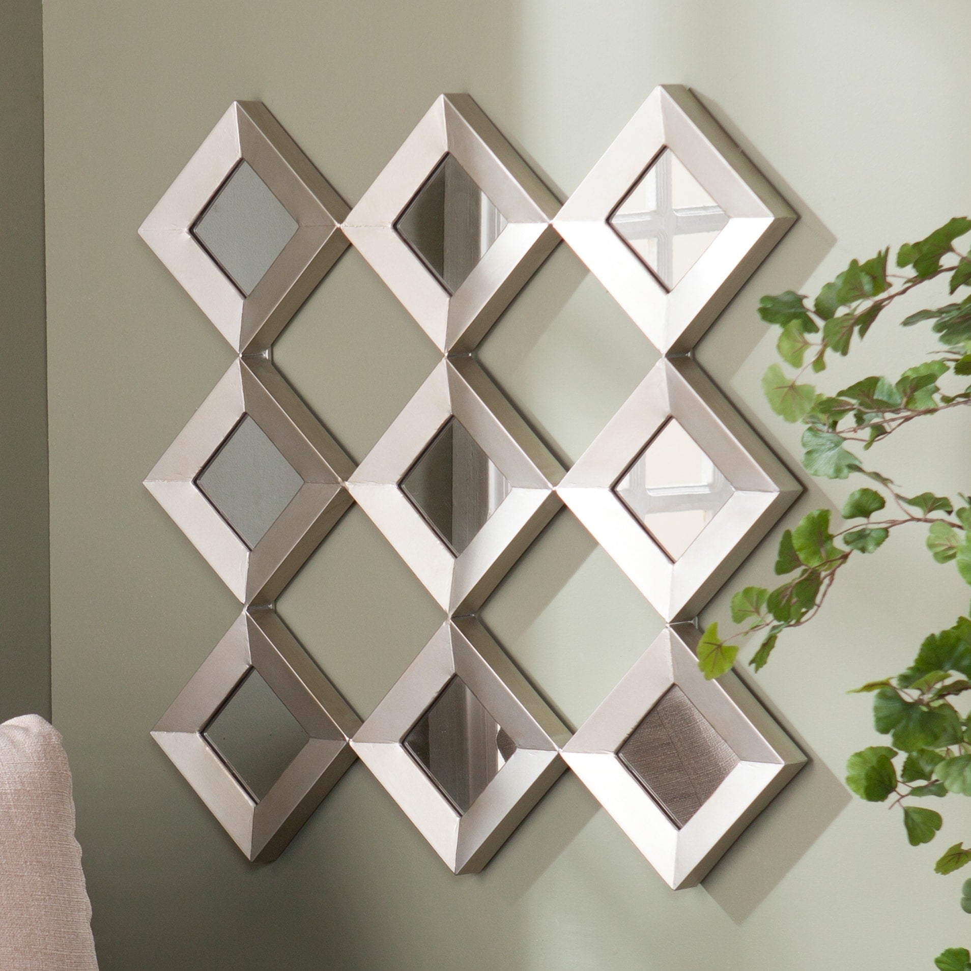 Mirrored Squares Wall Sculpture