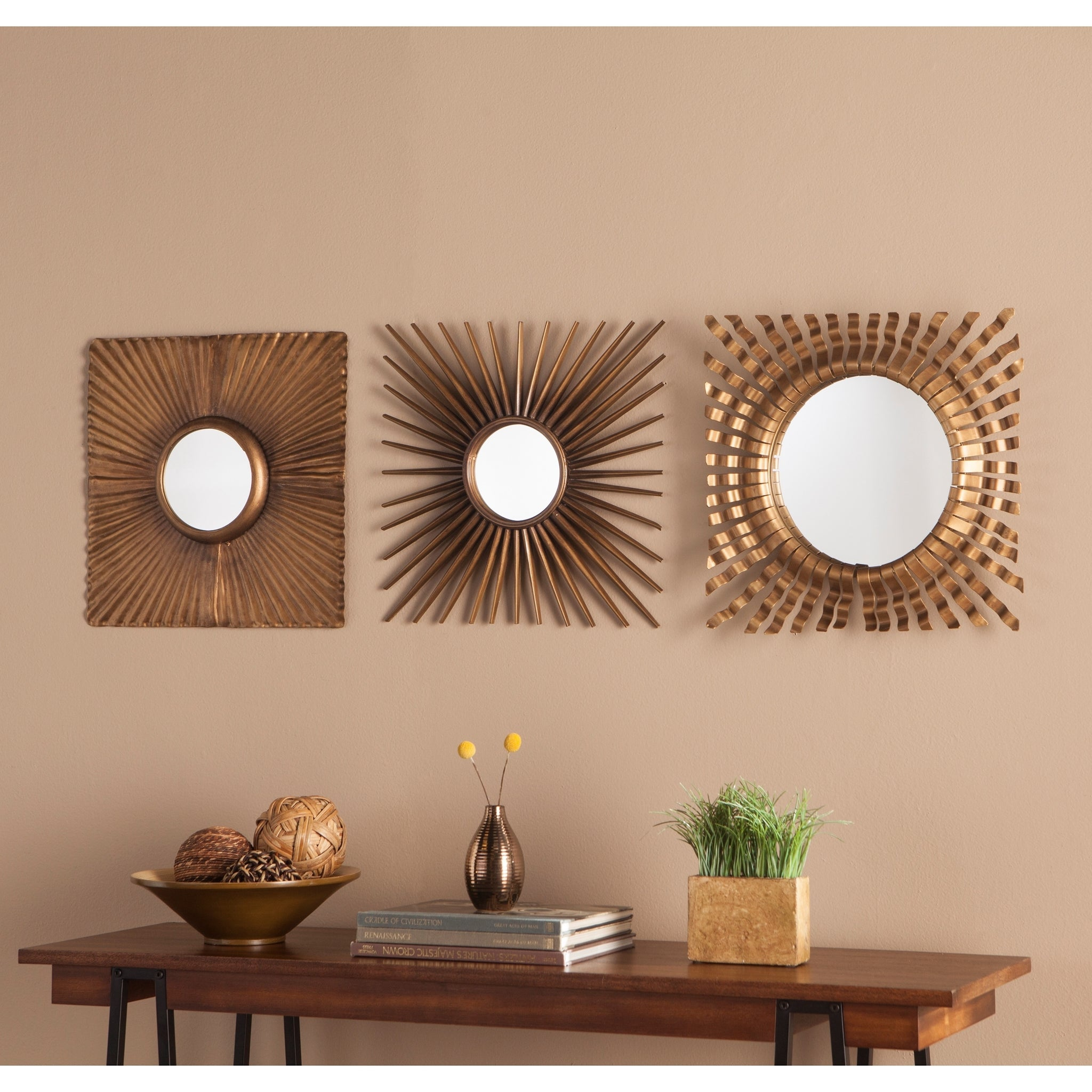 Three-Piece Decorative Mirror Set