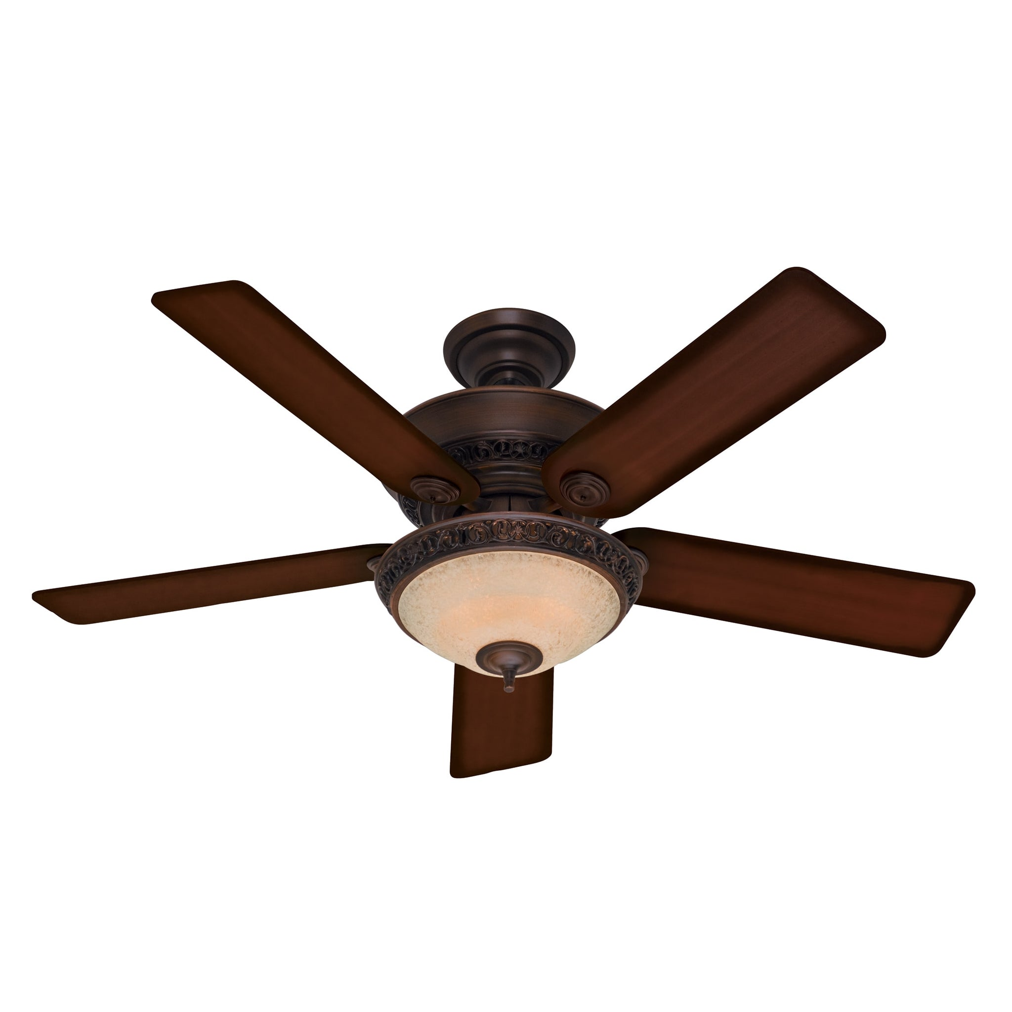Cocoa Finish 52-Inch Ceiling Fan with Five Aged Barnwood Cherry Walnut Blades