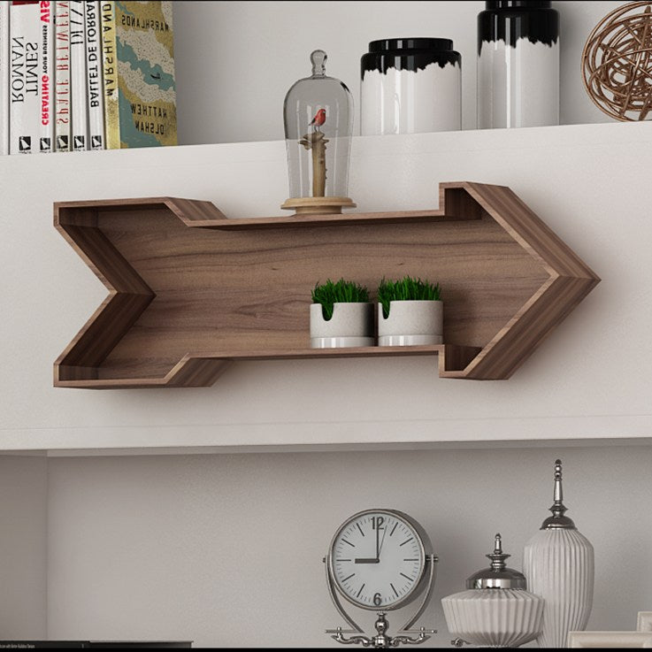 Wood Arrow Decorative Wall Shelf