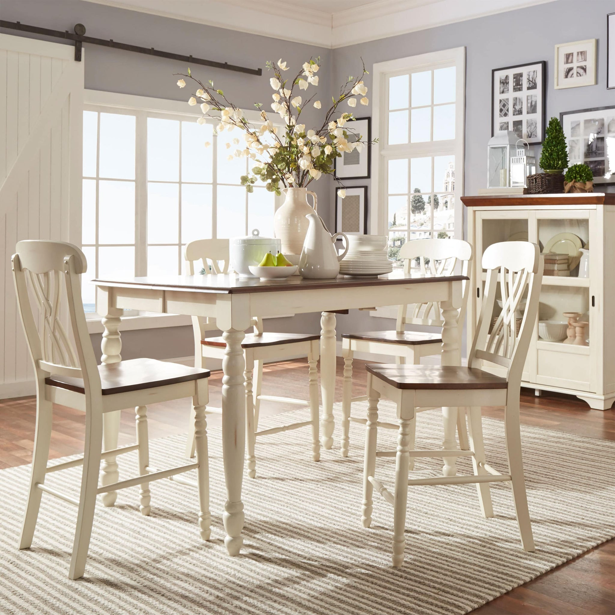 Counter-height Extending Dining Set