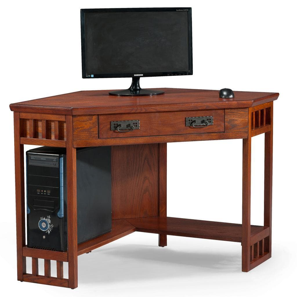 Oak Corner Laptop Desk