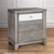 Modern Crocodile Silver Three-drawer Nightstand