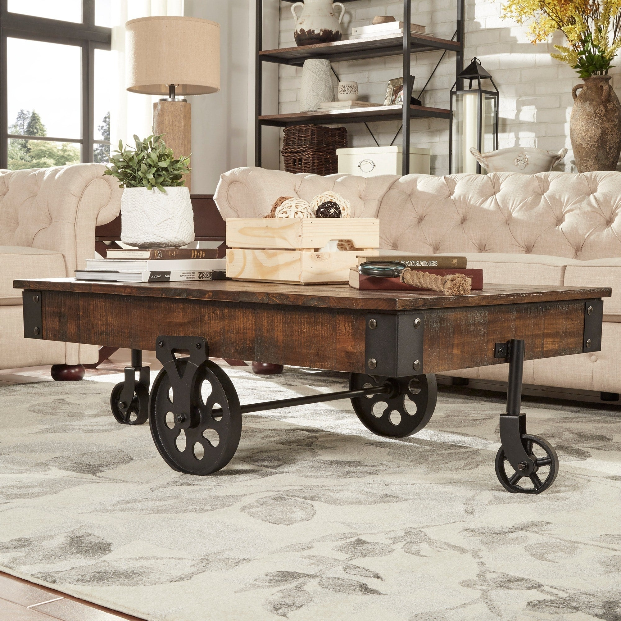 Industrial Modern Rustic Coffee Table