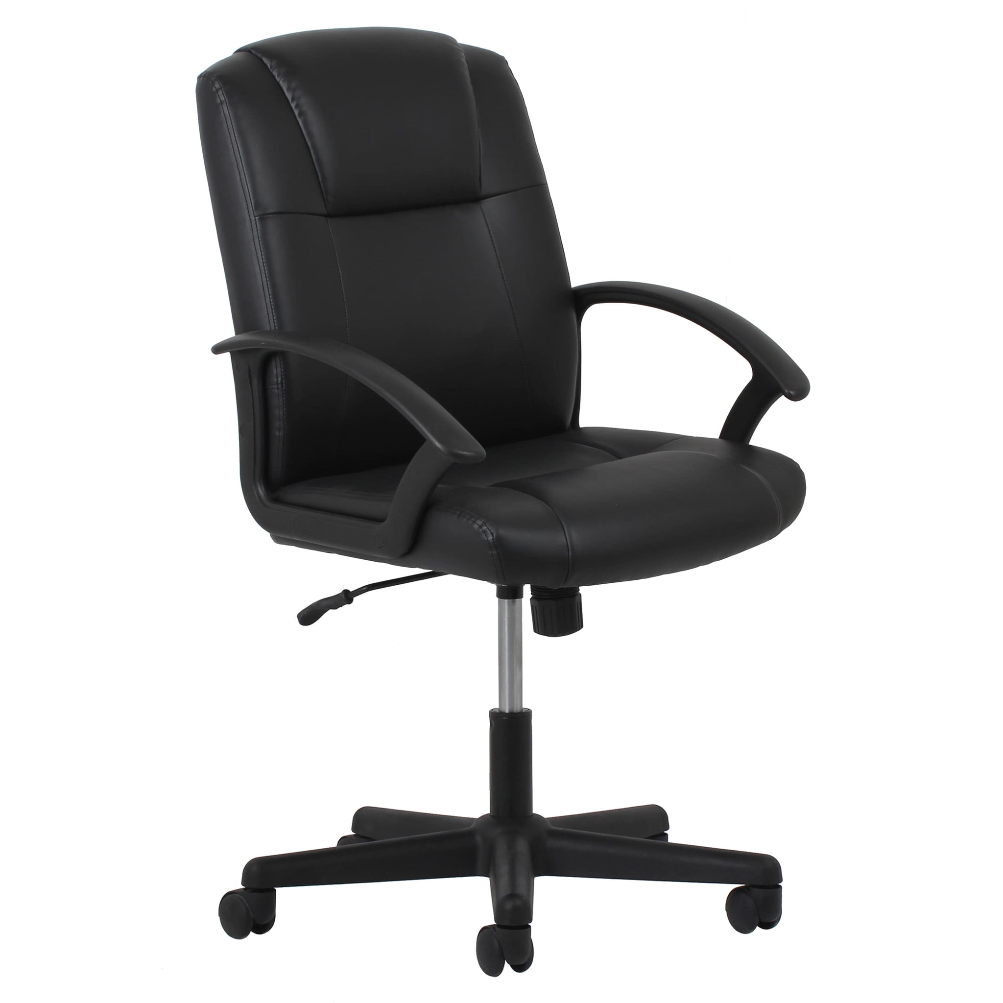 Adjustable Black Leather Office Chair
